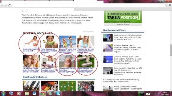 screen shot ads